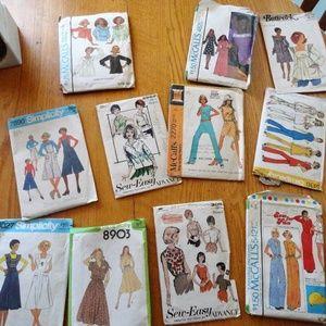Bundle 11 Vintage Sewing Patterns